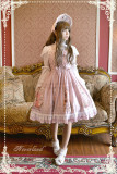 Neverland Lolita -Maiden in May- Lolita Fly Sleeves High Waist OP Dress