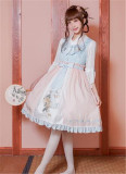 The Inlaid Harp ~Qi Lolita JSK Dress With Overskirt