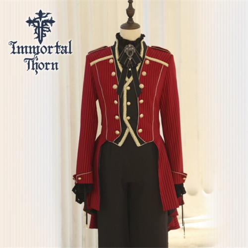 Immortal Thorn ~Immortal Oath of Daynight~ Ouji Lolita Coat -Ready Made
