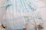 Singing of Deer Series~ Square Collar Lolita OP Dress -Ready Made