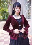 Surface Spell Lady In Velvet Cardigan Dark Purple - IN STOCK
