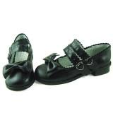 Cute Bow Low Heels Lolita Shoes