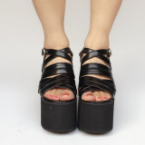 Beautiful Pinkycolor Glossy  Lolita Sandals