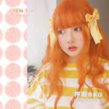 Hengji~ Sweet grapefruit~50cm Long Curls Lolita Wig