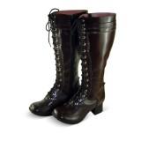 Coffee High Shaft Lolita Boots