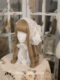 SweetDreamer~Victoria Cotton Lace Handmade Pearls Lolita Headband/Tippet -2 Uses