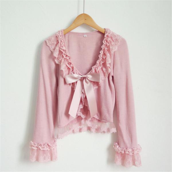 Sweet Lace Bow Lolita Bolero