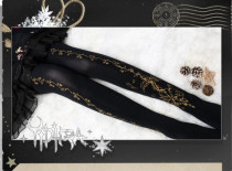 Flower Feather Lolita Tights