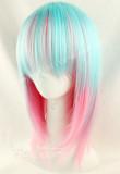 Light Blue Pink Bobo Lolita Wig