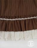 Rose Humanoid~ Stripe Vintage Classic Lolita OP -Ready Made