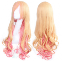 Ciel Queen Sweet Yellow Pink Lolita Curls Wig