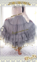 Boguta Lolita~ Stars Theme Lolita Petticoat/Skirt Luxury Version Gray 60cm - In Stock