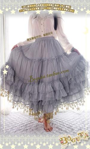 Boguta Lolita~ Stars Theme Lolita Petticoat/Skirt Luxury Version