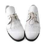 Beautiful White Black Butler Shoes