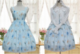The Song of The Sea~Sweet Lolita Printed Jumper Dress