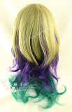 Sweet Gold Purple Green Lolita Wig