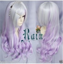 Fantastic Silver Purple Lolita Curls Wig
