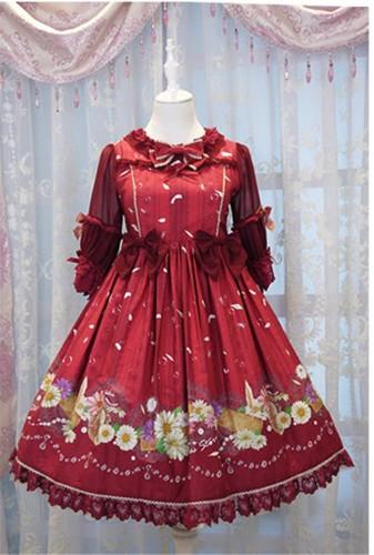 Daisy and Dandelion ~Sweet Lolita Medium Sleeves OP Dress