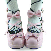 Sweet Pink PU Lolita Shoes