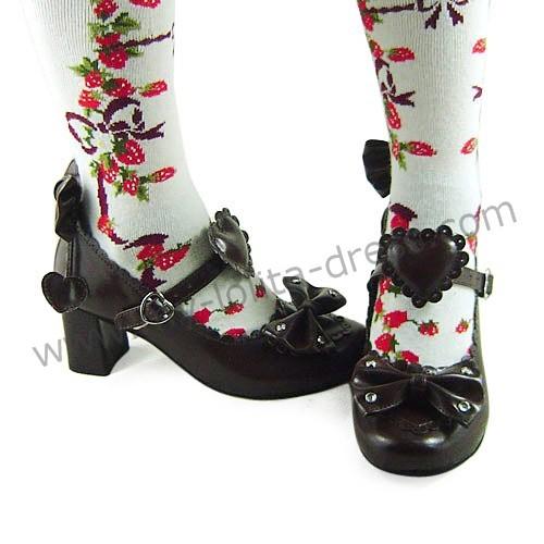 Bows Hearts Girls Lolita Shoes