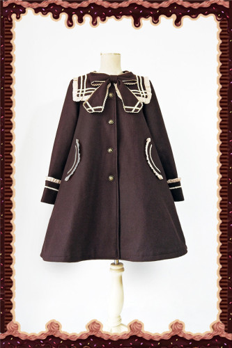 Collge Style Sailor Collar Lolita Coat