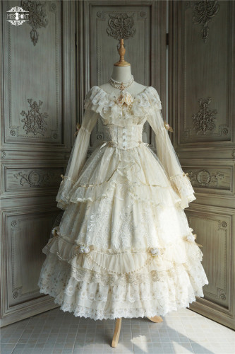 Miss Point ~Ode to the Dawn~ Embroidery Elegant Lolita OP - In Stock