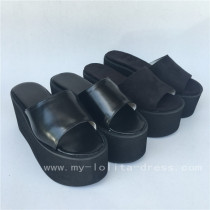 Matte Black Single belt Lolita Sandals