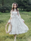 Carol~ Emperor High Waist Lolita JSK Unicolor -Ready Made