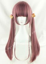 70cm Purple Brown Straight Lolita Wig