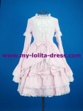 Sweet White Pink Bows Lolita Dress Pink(Bust:90cm,Waist:74cm,Length:80cm) - In Stock