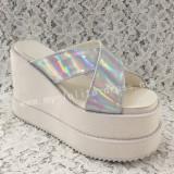 Sweet Silver Lolita High Platform Sandals