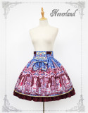 Chocolate Bear~ Lolita Printed Skirt