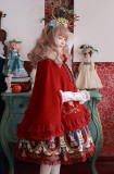 Sweet Poker Card Embroidery Wool Lolita Cloak/Cape