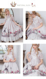 Rural Duck~ Sweet Lolita OP/JSK -Ready Made Light Green JSK Size M - In Stock