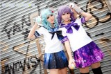 Starry Sky Japanese School Uniform Sailor Style Blouse and Ruffled Skirt Blue XS - In Stock