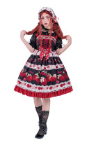 Dessin Robe ~Big Strawberry~ Sweet Printed Lolita JSK -Ready Made