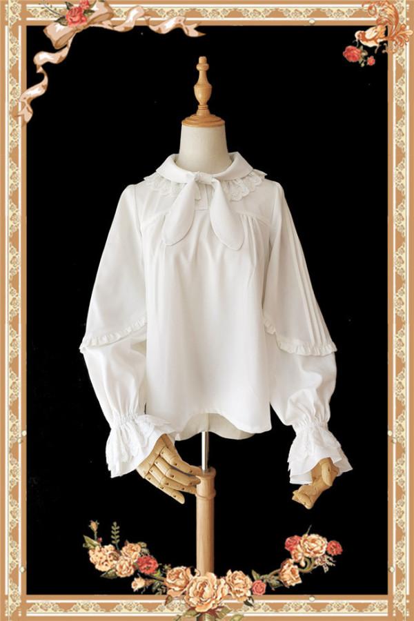 High Density Chiffon Lolita Long Sleeves Blouse