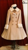 Sweet Pink A-line Long Lolita Winter Jacket 4 Colors