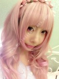 Light Golden Pink Curls Lolita Wig 70cm Long
