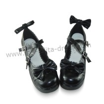 Pretty Bows Girls Lolita Flat Shoes