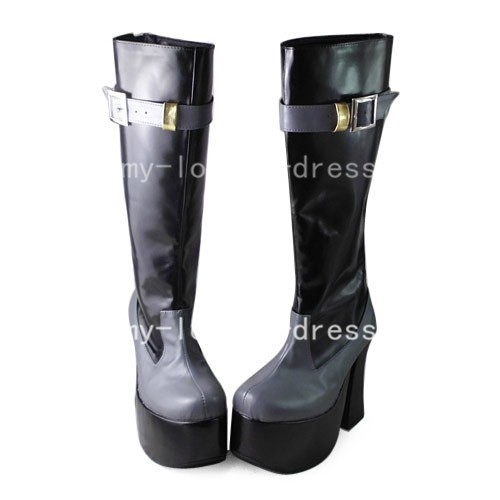 Gothic Black and White Boots