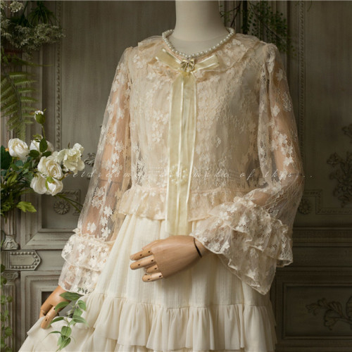 The Maiden with Pearl Necklace ~ Lace Lolita Blouse