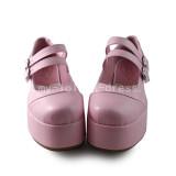 High Platform Sweet Pink Lolita Shoes