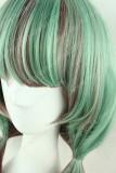AMO Green Brown Curly Lolita Wig