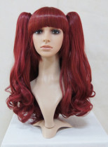 Wine Burgundy Shoulder Long Lolita Wig