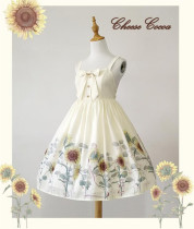Sunflower Slight High Waist Lolita Jumper