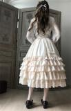 Little Dipper Camellia~ Sweet Lolita Underskirt Petticoat -Flexible Length -Pre-order