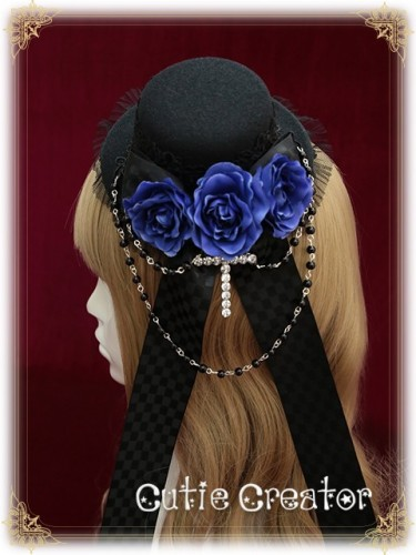 Sweet Dreamer~Seven Deadly Sins:Pride~Roses Beads Gothic Lolita Mini Hat