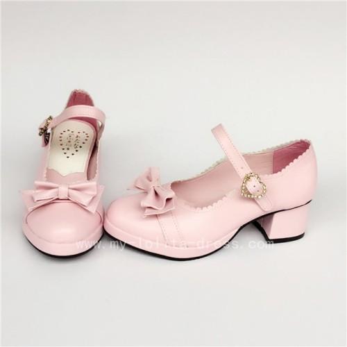 Bows Single Strap Lolita Shoes