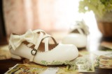 BTSSB Replica Sweet Cowhide Lolita Shoes with Detachable Bows